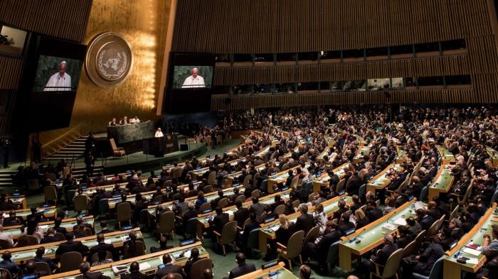 Asamblea General de las Naciones Unidas tiene la responsabilidad de velar por la paz mundial y acaba de hacer noticias al demandar por la paz en Palestina.jpg