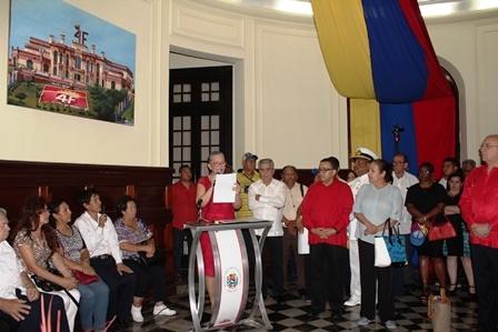 3. EMBAJADOR DE LA REPÚBLICA BOLIVARIANA DE VENEZUELA PRESIDE ACTIVIDAD EN HOMENAJE AL COMANDANTE CHÁVEZ